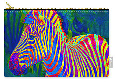 Pyschedelic Zebra Carry-all Pouch