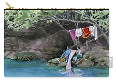 Carry-all Pouch featuring the painting Laundry Day by Kris Parins