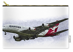 Qantas Airbus A380 Art Carry-all Pouch