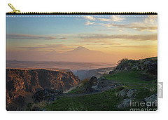 Qasakh Gorge And Ararat Mountain At Golden Hour Carry-all Pouch