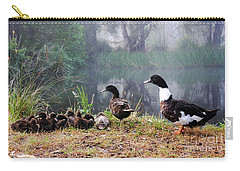 Quack Quack Ducks And A Pond Carry-all Pouch by Lexa Harpell