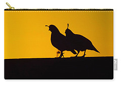 Quail At Sunset Carry-all Pouch