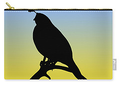 Quail Silhouette At Sunrise Carry-all Pouch