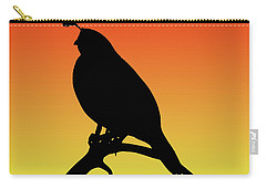 Quail Silhouette At Sunset Carry-all Pouch