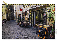 Quaint Cobblestones Streets In Rome, Italy Carry-all Pouch