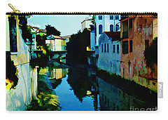 Carry-all Pouch featuring the photograph Quaint On The Canal by Roberta Byram