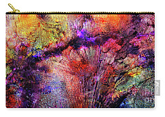 Carry-all Pouch featuring the digital art Qualias Bridge by Russell Kightley