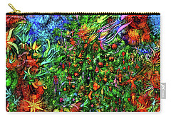 Carry-all Pouch featuring the digital art Qualia's Christmas by Russell Kightley