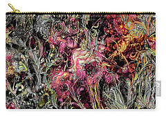 Carry-all Pouch featuring the digital art Qualia's Garden Summer by Russell Kightley