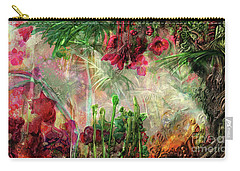Carry-all Pouch featuring the digital art Qualia's Jungle by Russell Kightley