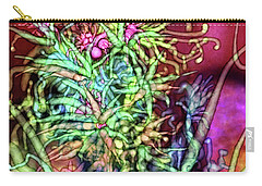 Carry-all Pouch featuring the digital art Qualia's Tree by Russell Kightley