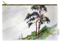 Carry-all Pouch featuring the painting Quality Time by Sam Sidders