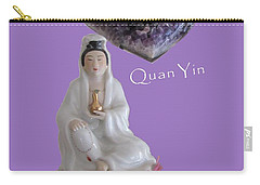 Quan Yin With Amethyst Heart Carry-all Pouch