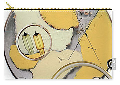 Carry-all Pouch featuring the painting Quantom Physics by Michal Mitak Mahgerefteh