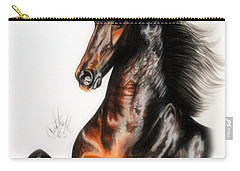 Quantum Of Solace Saddlebred Stallion Carry-all Pouch by Cheryl Poland