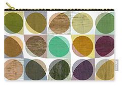 Carry-all Pouch featuring the digital art Quarter Circles Layer Project One by Michelle Calkins