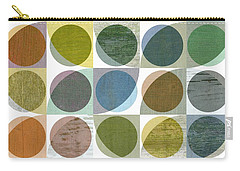 Carry-all Pouch featuring the digital art Quarter Circles Layer Project Three by Michelle Calkins