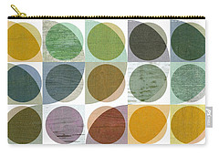 Carry-all Pouch featuring the digital art Quarter Circles Layer Project Two by Michelle Calkins
