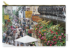 Carry-all Pouch featuring the photograph Quartier Petit Champlain by John Schneider