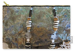 Quartz Agate Set In Gourd Wood #d134 Carry-all Pouch by Barbara Prestridge