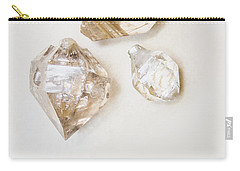 Carry-all Pouch featuring the photograph Quartz Crystals by Jorgo Photography - Wall Art Gallery