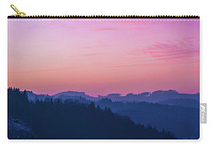 Quartz Sunset Sky Over Blue Ridges Of Mountains Carry-all Pouch