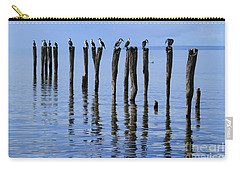 Carry-all Pouch featuring the photograph Quay Rest by Stephen Mitchell