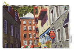Quebec City Side Street Carry-all Pouch by Alan Mager