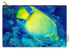 Carry-all Pouch featuring the photograph Queen Angelfish I by Perla Copernik