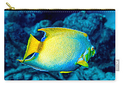 Carry-all Pouch featuring the photograph Queen Angelfish II by Perla Copernik