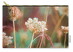Carry-all Pouch featuring the digital art Queen Anne Impasto by Bonnie Bruno