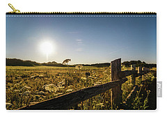 Carry-all Pouch featuring the photograph Queen Annes Lace Along Cavendish Fencerow by Chris Bordeleau