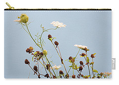 Queen Anne's Lace And Dried Clovers Carry-all Pouch by Lise Winne