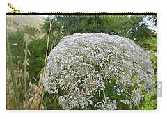 Carry-all Pouch featuring the photograph Queen Anne's Lace by Esther Newman-Cohen