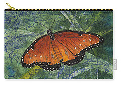 Queen Butterfly Watercolor Batik Carry-all Pouch