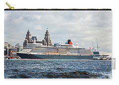 Queen Elizabeth Cruise Ship At Liverpool Carry-all Pouch