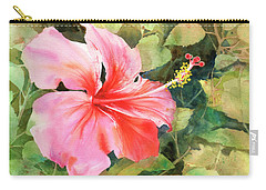 Carry-all Pouch featuring the painting Queen For A Day by Kris Parins