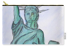 Queen Of Liberty Carry-all Pouch by Clyde J Kell