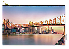 Queensboro Bridge At Sunset Carry-all Pouch by Mihai Andritoiu