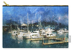 Carry-all Pouch featuring the photograph Queensland Marina by Claire Bull