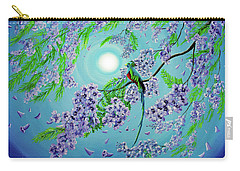 Quetzal Bird In Jacaranda Tree Carry-all Pouch by Laura Iverson
