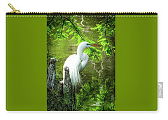 Quiet Moments Of Elegance Carry-all Pouch by Karen Wiles