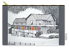 Quilts On Porch Carry-all Pouch by Jim Harris
