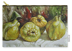 Carry-all Pouch featuring the painting Quinces by Elena Oleniuc