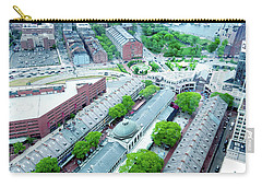 Carry-all Pouch featuring the photograph Quincy And Columbus by Greg Fortier