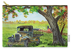 Carry-all Pouch featuring the painting Quitting In The Shade by Jack G Brauer