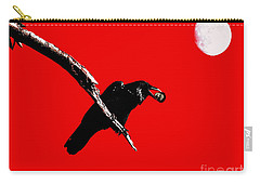 Quoth The Raven Nevermore . Red Carry-all Pouch