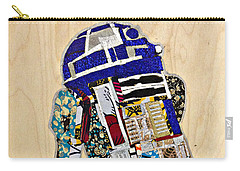 Carry-all Pouch featuring the tapestry - textile R2-d2 Star Wars Afrofuturist Collection by Apanaki Temitayo M