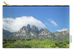 Carry-all Pouch featuring the photograph  Organ Mountains Rabbit Ears by Jack Pumphrey