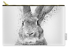 Carry-all Pouch featuring the digital art Rabbit by Taylan Apukovska